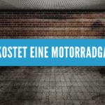 Was kostet eine Motorradgarage