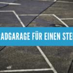 Motorradgarage für einen Stellplatz